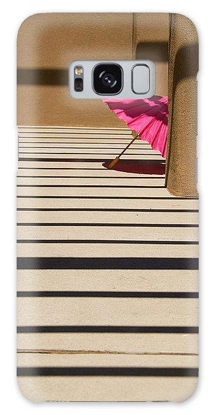 Pink Umbrella Galaxy Case by Carolyn Dalessandro