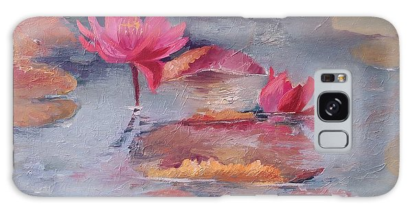 Pink Waterlilies Galaxy Case by Vali Irina Ciobanu