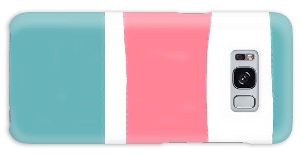 Pink White Blue 2 Galaxy Case by Bonnie Bruno