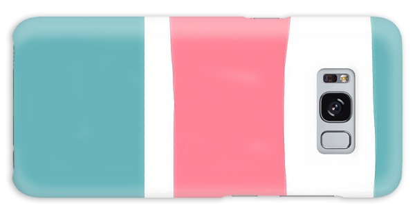 Pink White Blue 2 Galaxy Case by Bonnie Bruno