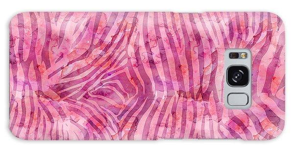 Pink Zebra Print Galaxy Case
