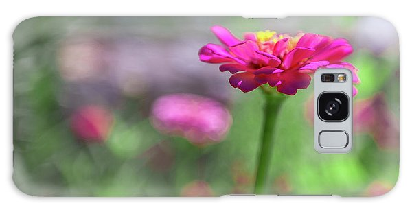 Galaxy Case featuring the photograph Pink Zinnia by SR Green