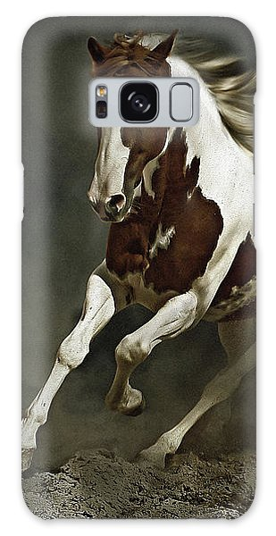Pinto Horse In Motion Galaxy Case