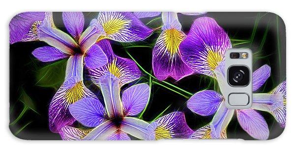 Pinwheel Purple Iris Glow Galaxy Case