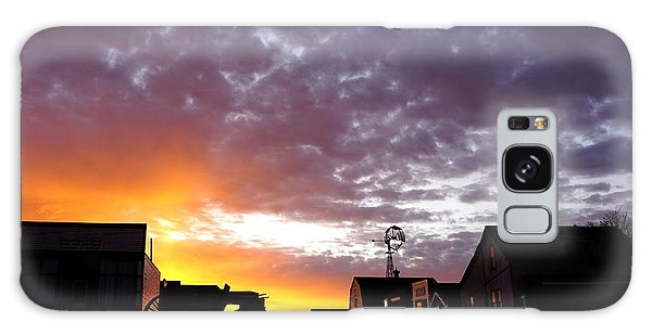 Pioneer Town Sunset Galaxy Case