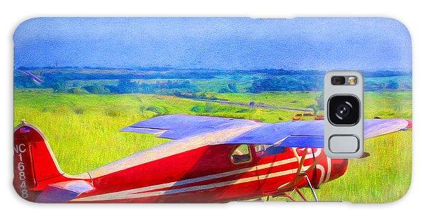 Piper Cub Airplane In Kansas Prairie Galaxy Case