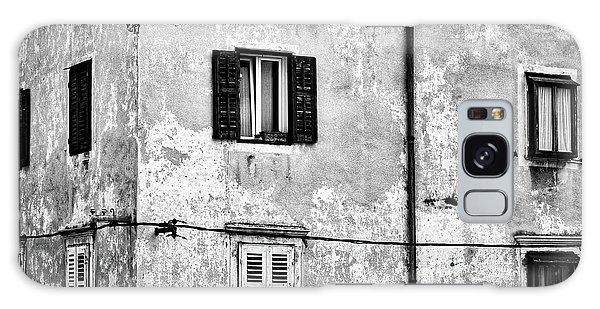 Galaxy Case featuring the photograph Piran Windows - Slovenia by Stuart Litoff