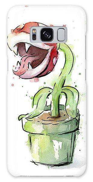 Plant Galaxy Case - Piranha Plant Watercolor by Olga Shvartsur