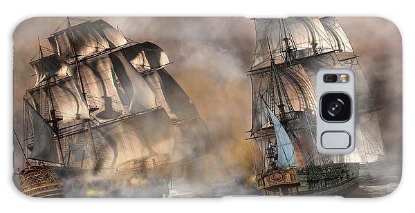 Pirate Battle Galaxy Case by Daniel Eskridge