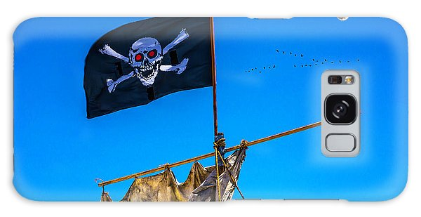 Sly Galaxy Case - Pirate Flag And Moon by Garry Gay