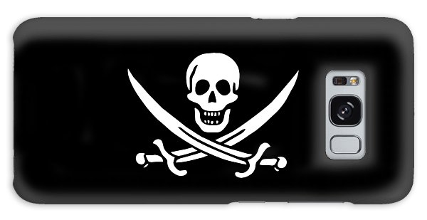Skulls Galaxy Case - Pirate Flag Jolly Roger Of Calico Jack Rackham Tee by Edward Fielding