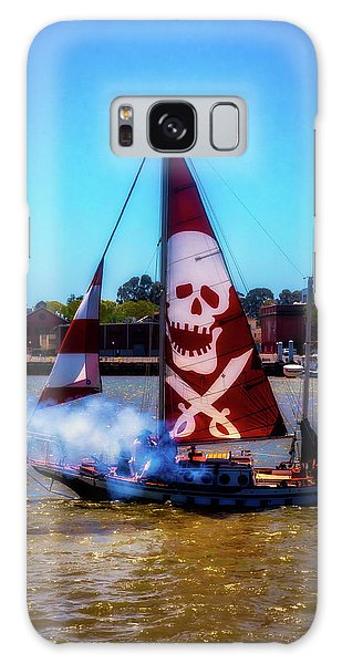 Cosplay Galaxy Case -  Pirate Ship With Red Skull Sail by Garry Gay