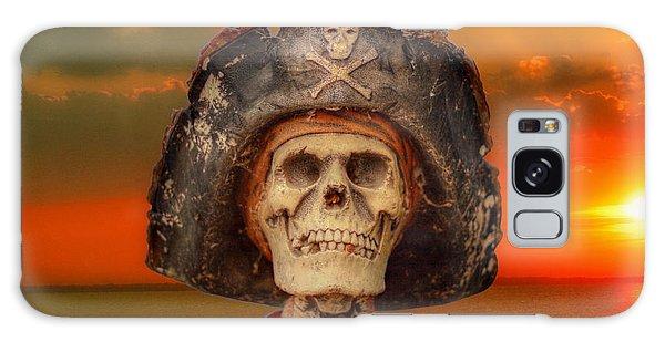 Pirate Skeleton Sunset Galaxy Case by Randy Steele