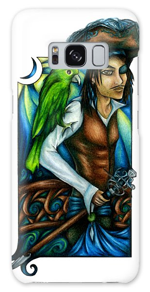 Pirate With Parrot Art Galaxy Case