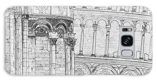 Galaxy Case - Pisa Leaning Tower Pen And Ink 4637 by Bob Neiman