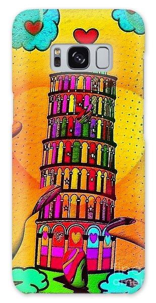 Pisa Popart By Nico Bielow Galaxy Case by Nico Bielow