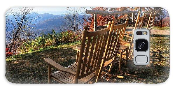 Pisgah Inn's Rocking Chairs Galaxy Case