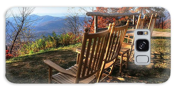 Pisgah Inn's Rocking Chairs Galaxy Case