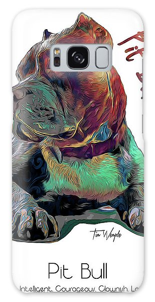 Pit Bull Pop Art Galaxy Case