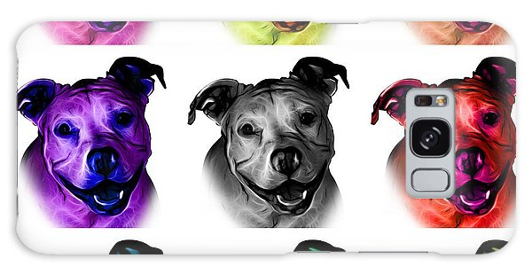 Pitbull Terrier - F - S - Wb - Mosaic Galaxy Case
