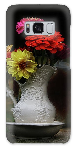 Pitcher And Zinnias Galaxy Case