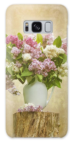 Pitcher Of Lilacs Galaxy Case by Patti Deters