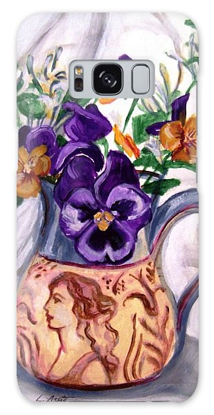 Pitcher Of Pansies Galaxy Case