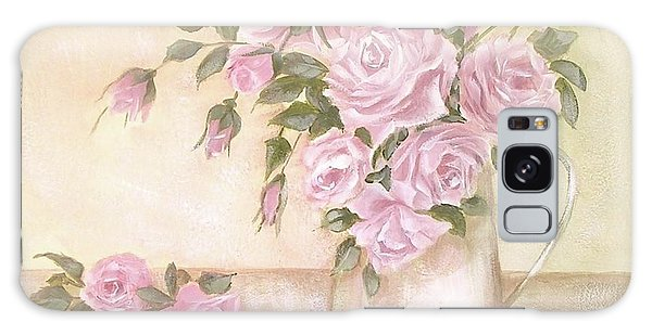 Pitcher Of  Pink Roses  Galaxy Case