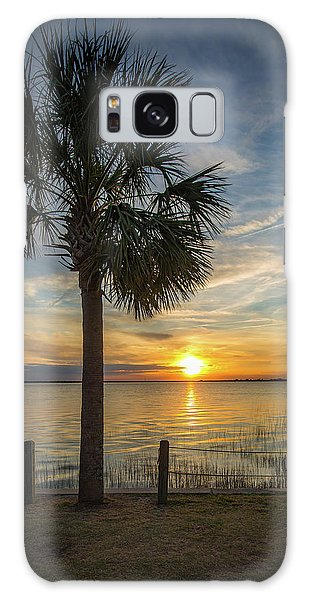 Pitt Street Bridge Palmetto Tree Sunset Galaxy Case