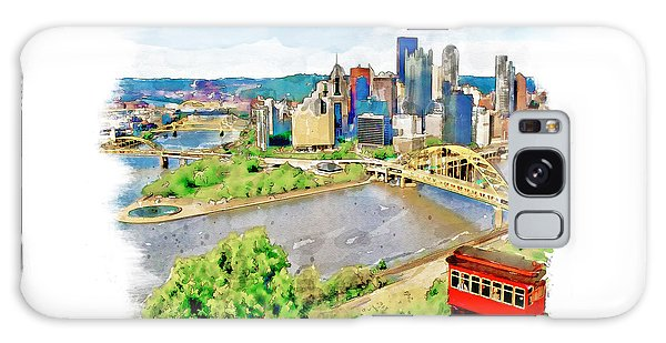 Pittsburgh Aerial View Galaxy Case
