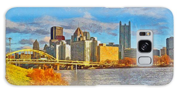 Galaxy Case featuring the digital art Pittsburgh From The Shore Of The Ohio River by Digital Photographic Arts