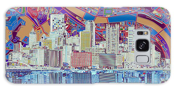 Pittsburgh Skyline Abstract 6 Galaxy Case