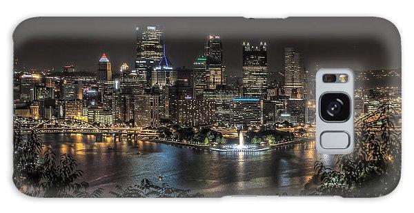 Pittsburgh Skyline Galaxy Case by Brent Durken