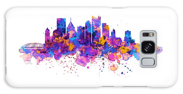 Pittsburgh Skyline Galaxy Case by Marian Voicu