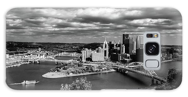 Pittsburgh Skyline With Boat Galaxy Case