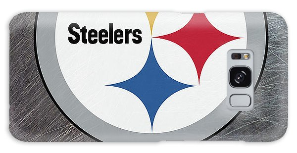 Pittsburgh Steelers On An Abraded Steel Texture Galaxy Case