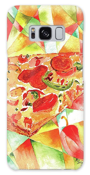 Pizza Pizza Galaxy Case by Paula Ayers