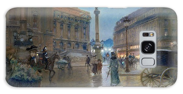 Cart Galaxy Case - Place De L Opera In Paris by Georges Stein