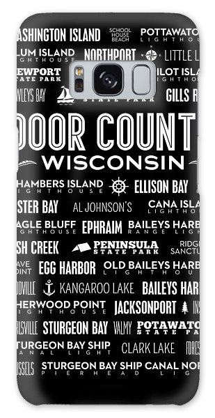 Places Of Door County On Black Galaxy Case by Christopher Arndt