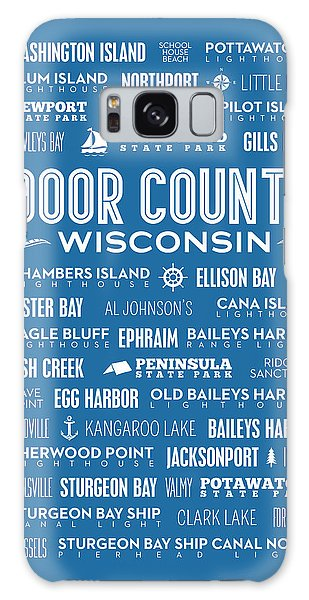 Places Of Door County On Blue Galaxy Case
