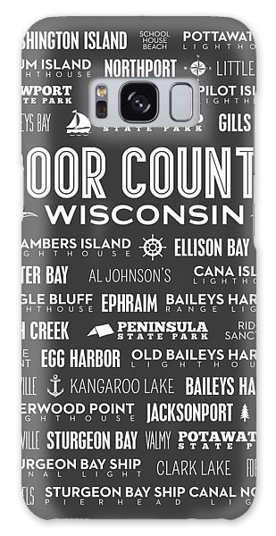 Places Of Door County On Gray Galaxy Case