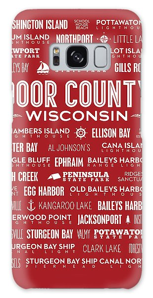 Places Of Door County On Red Galaxy Case