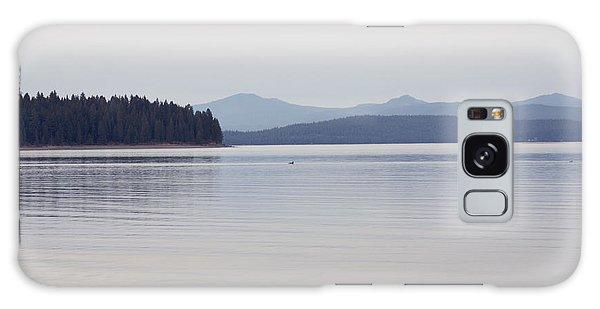 Placid Mountain Lake Galaxy Case