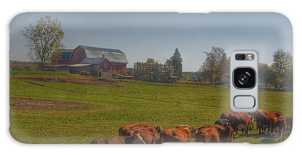 1014 - Plain Road Farm And Cows I Galaxy Case