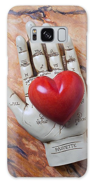 Gypsy Galaxy Case - Plam Reader Hand Holding Red Stone Heart by Garry Gay