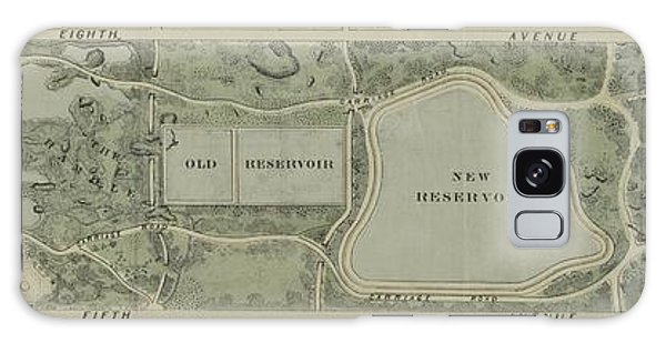 Plan Of Central Park City Of New York 1860 Galaxy Case
