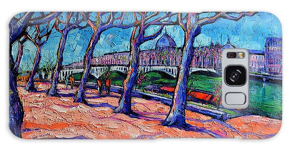 Abstract People Galaxy Case - Plane Trees Along The Rhone River - Spring In Lyon By Mona Edulesco by Mona Edulesco