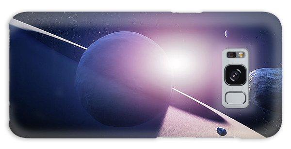 Colours Galaxy Case - Planet Saturn Sunrise by Johan Swanepoel