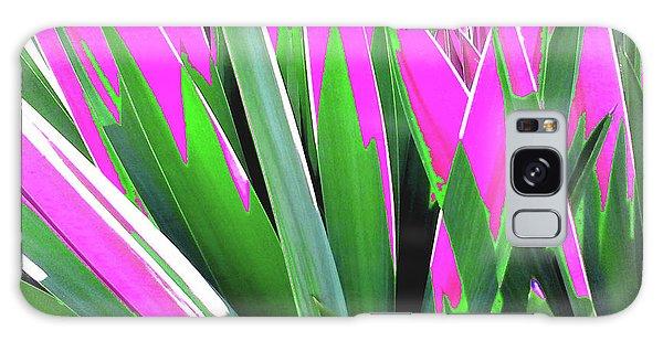 Plant Burst - Pink Galaxy Case by Rebecca Harman