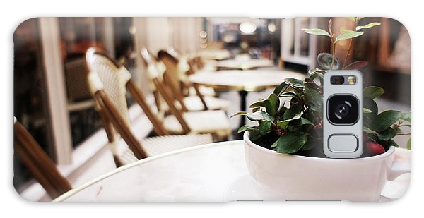 Plant In A Cup In A Cafe Galaxy Case